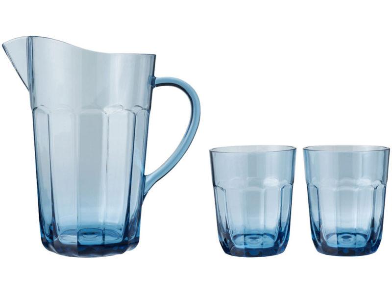 Графин с 2 стаканами из САН-пластика арт. 11269300_c