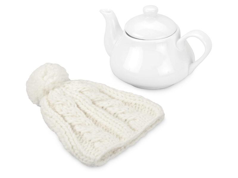 Чайник на 750 мл «Шапочка», белый арт. 608206_b