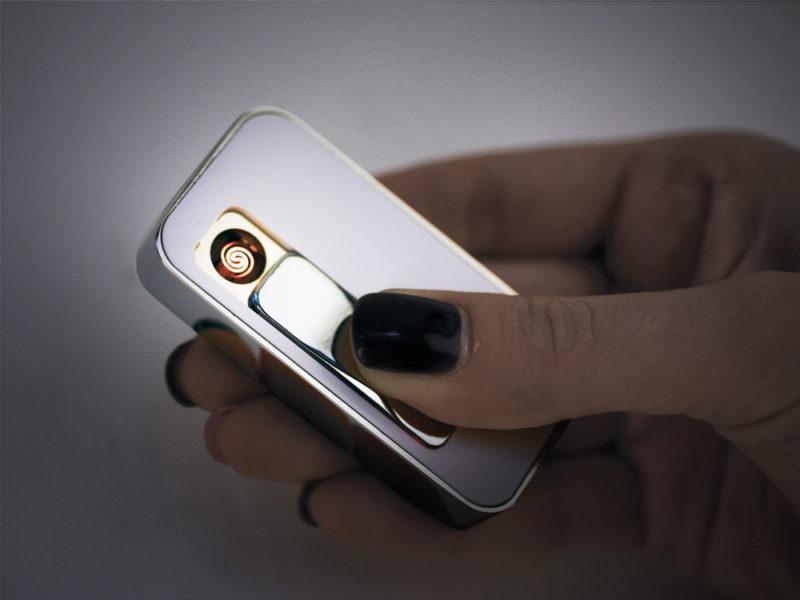 """USB-флешка на 4 Гб с функцией зажигалки """"Silver"""" арт. 6272.56.04_d"""