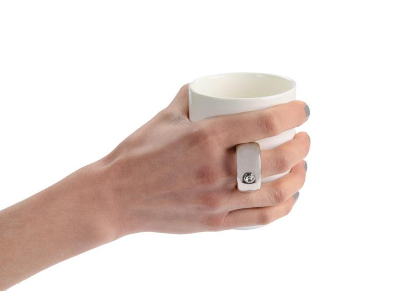 Кружка  ручкой в виде кольца арт. 879600_c