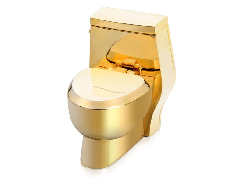 Часы «Золотой унитаз» арт. 104705_b