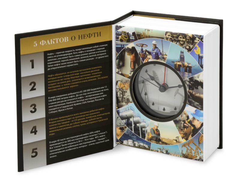 """Часы """"Нефть – черное золото"""" арт. 105402_b"""