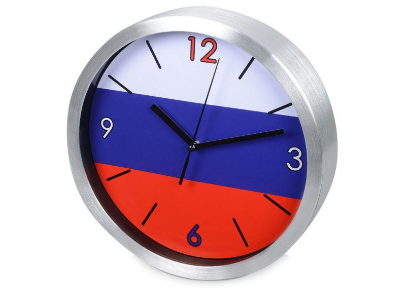 Часы настенные «Российский флаг» арт. 186120_a