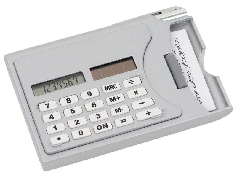 Визитница «Бухгалтер» с калькулятором и ручкой арт. 729400_a