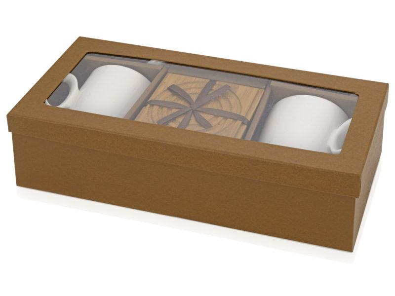 Набор: 2 чашки, 2 подставки, 2 ложки «Дуэт» арт. 829806_b