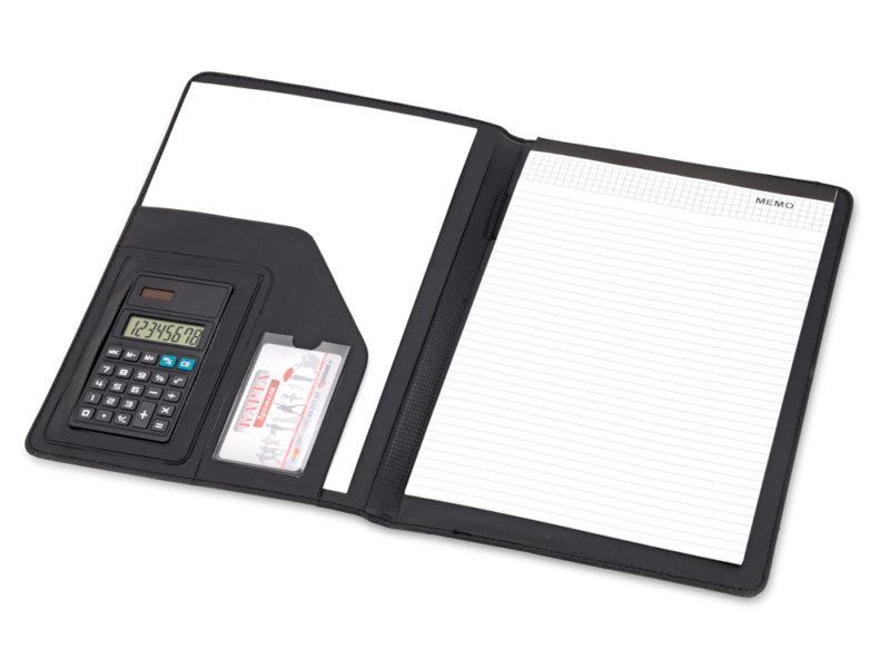 Папка для документов «Триест» с калькулятором и блоком для записей арт. 914007_b