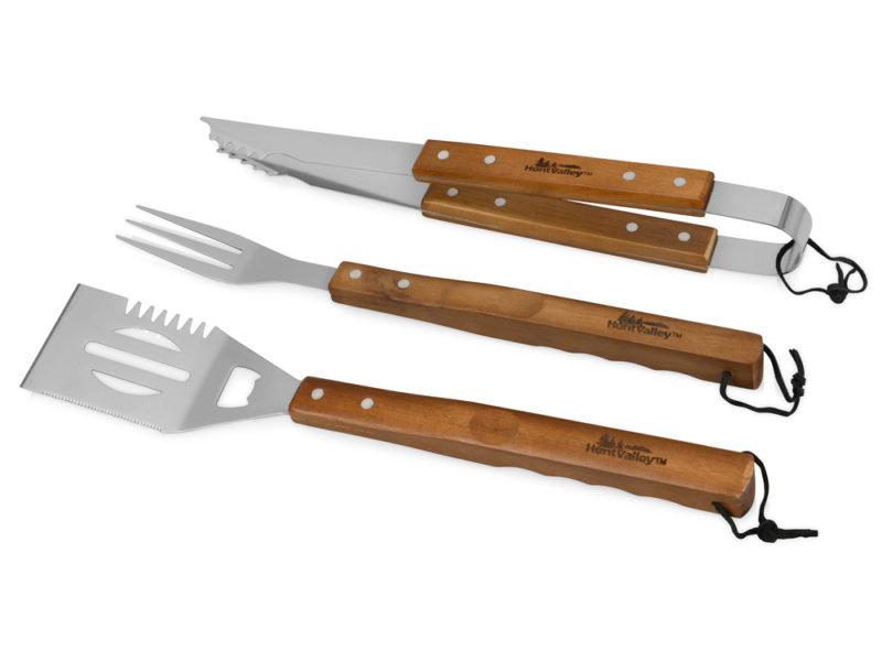 """Набор для барбекю """"Стейк"""": лопатка, вилка, щипцы арт. 104553"""