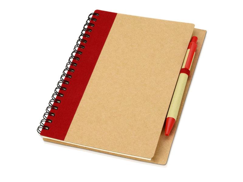 Блокнот на пружине с ручкой арт. 10626800