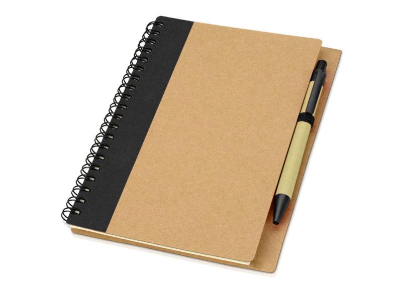 Блокнот на пружине с ручкой арт. 10626801