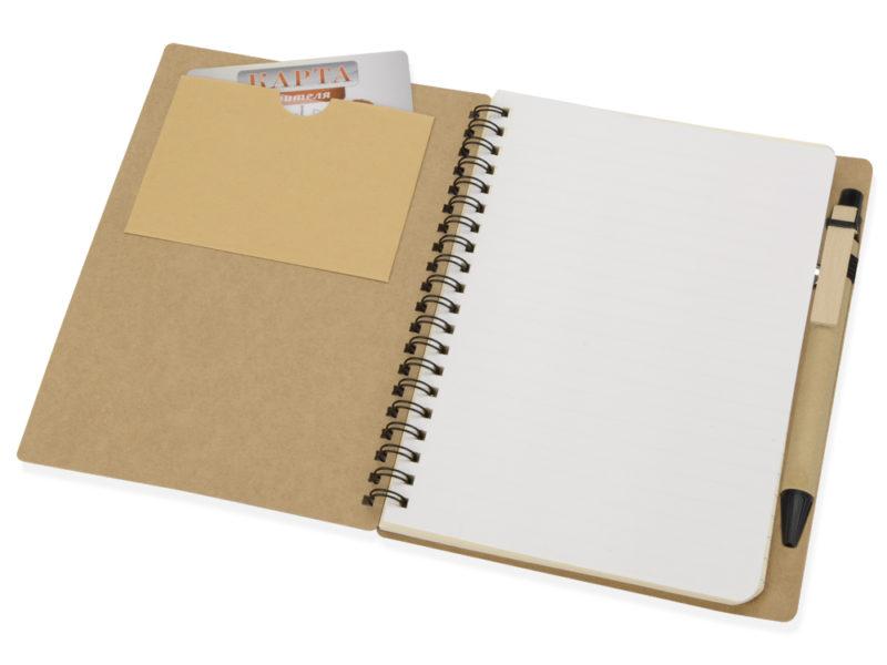 Блокнот на пружине с ручкой  арт. 413500