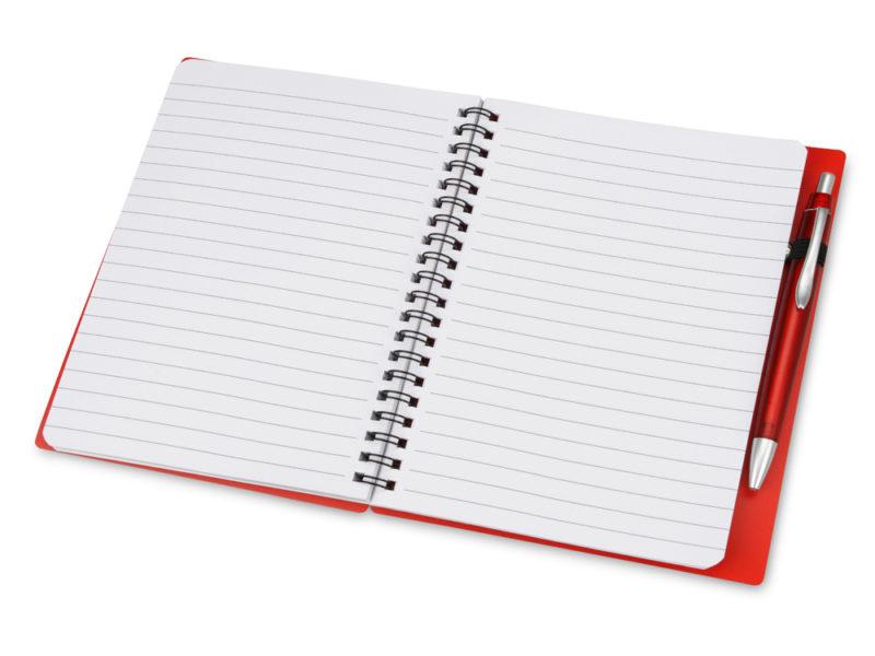 Блокнот на пружине с ручкой арт. 413501