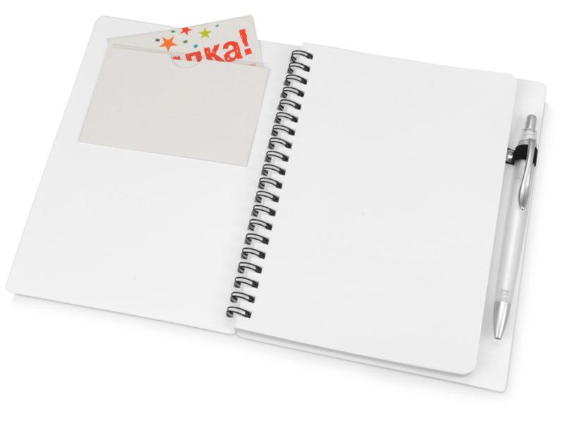 Блокнот на пружине с ручкой арт. 413506