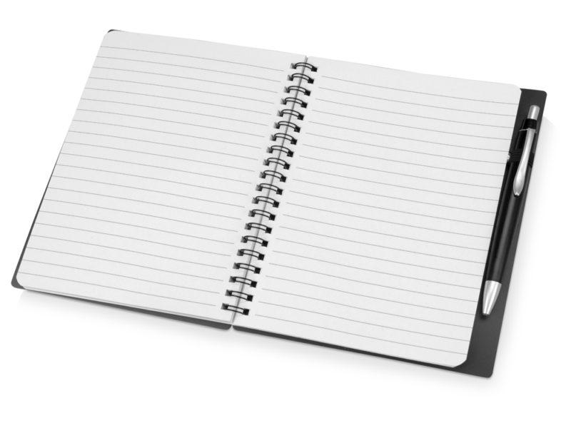 Блокнот на пружине с ручкой  арт. 413507