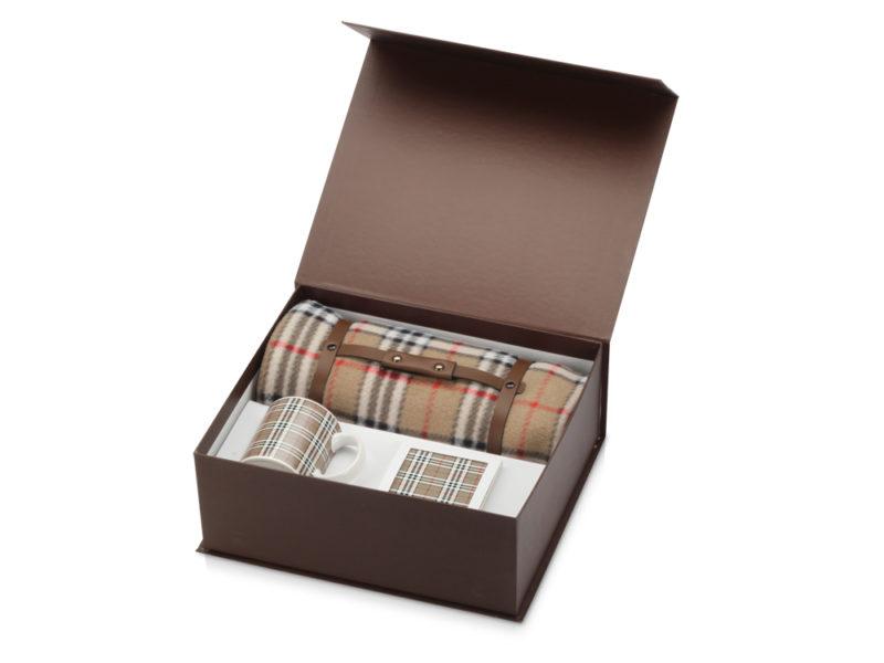 """Набор """"В лучших английских традициях"""": плед, керамическая кружка и подставка под кружку арт. 839608"""
