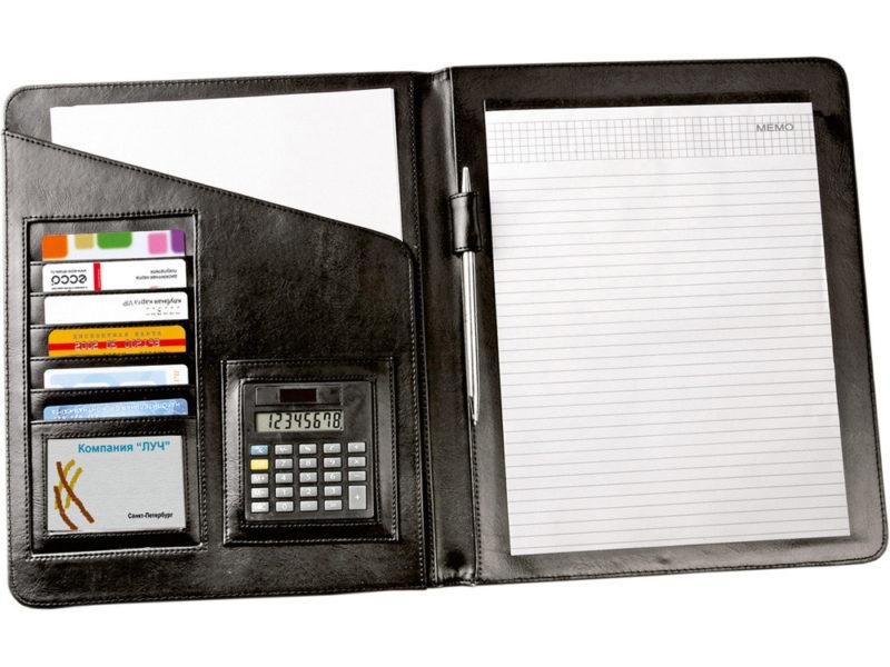 Папка с блокнотом и калькулятором арт. 923927