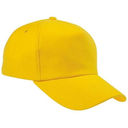 Бейсболка желтая