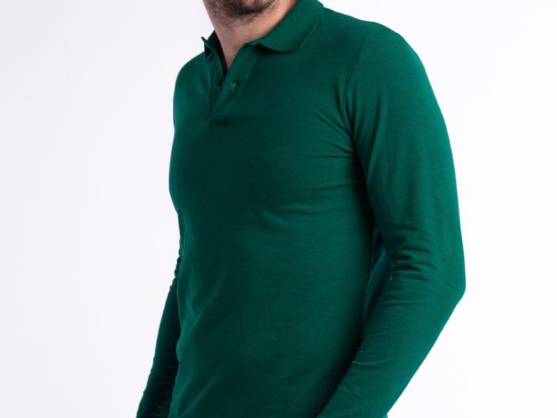 Рубашка-поло зелёная