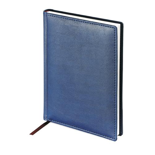 Ежедневник-недатированный-А5-LEADER-синий