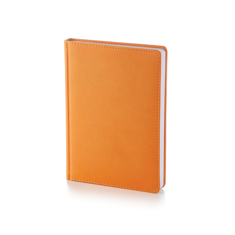 Ежедневник-недатированный-А5-LEADER-оранжевый
