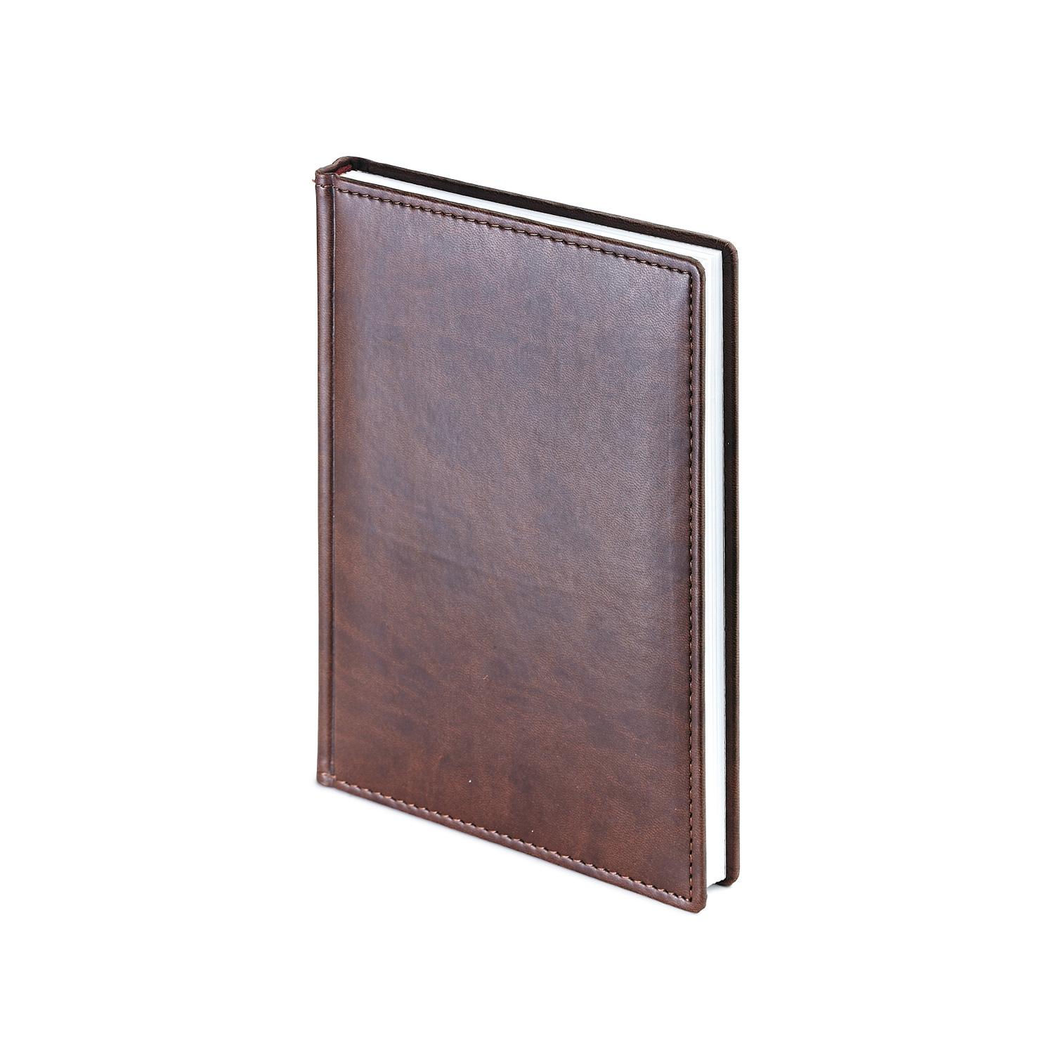 Ежедневник-недатированный-А5-VELVET-коричневый