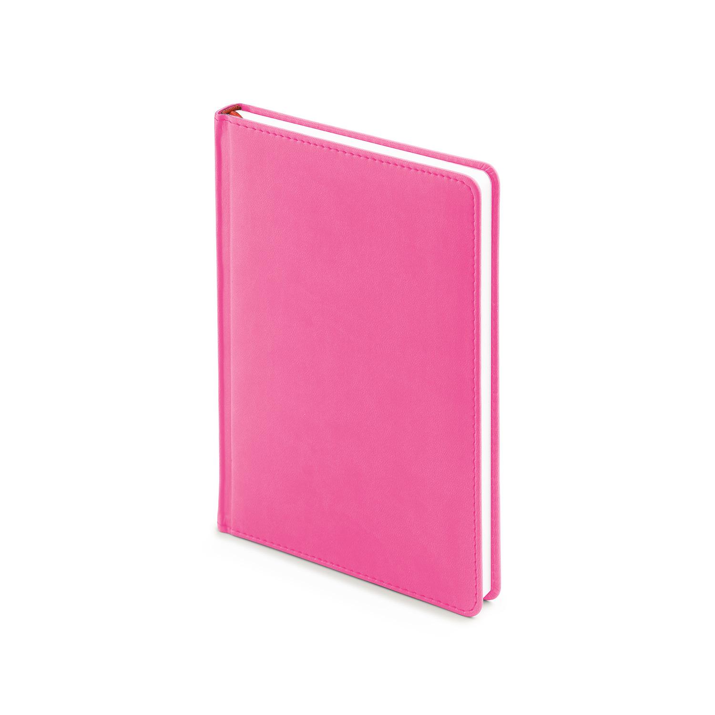 Ежедневник-недатированный-А5-VELVET-розовый-флуор