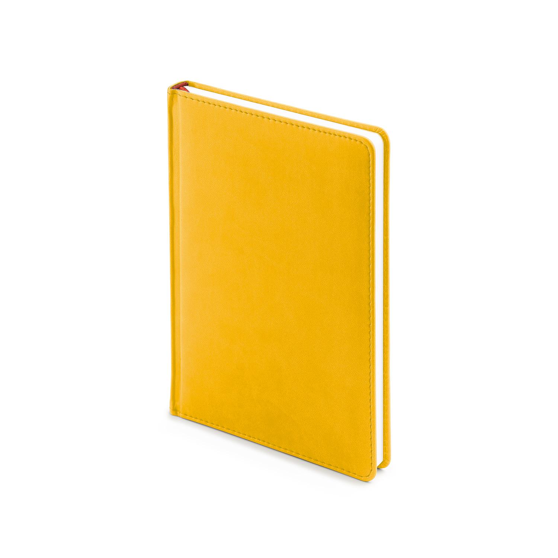 Ежедневник-недатированный-А5-VELVET-жёлтый-охра