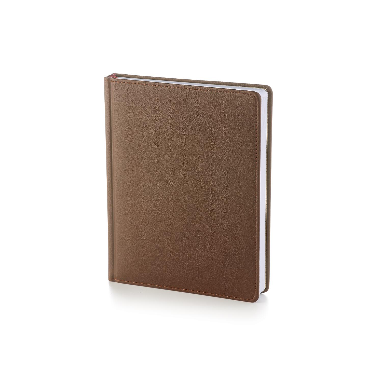 Ежедневник-недатированный-А6-LEADER-коричневый