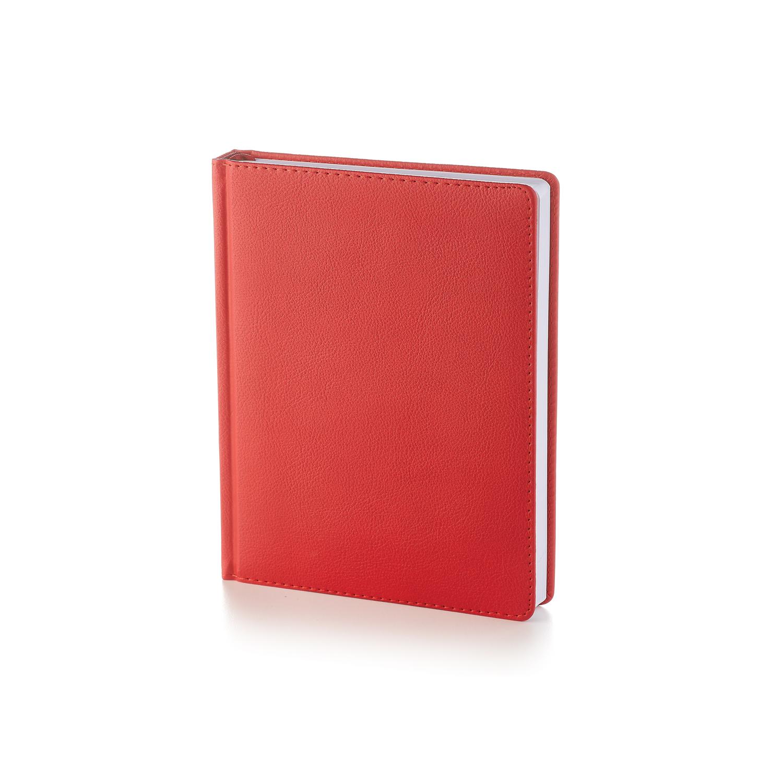 Ежедневник-недатированный-А6-LEADER-красный