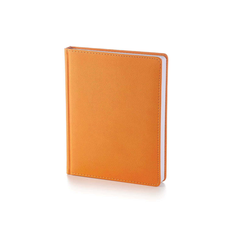 Ежедневник-недатированный-А6-LEADER-оранжевый