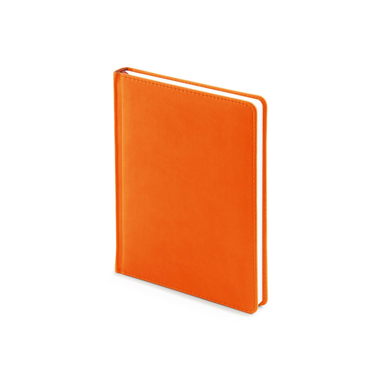 Ежедневник-недатированный-А6-VELVET-оранжевый-флуор