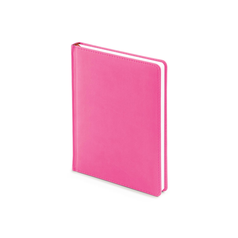 Ежедневник-недатированный-А6-VELVET-розовый-флуор