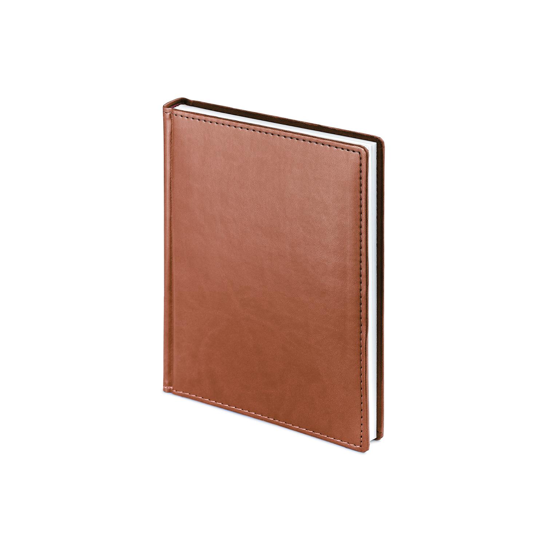 Ежедневник-недатированный-А6-VELVET-светло-коричневый