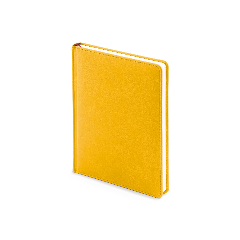 Ежедневник-недатированный-А6-VELVET-жёлтый-охра