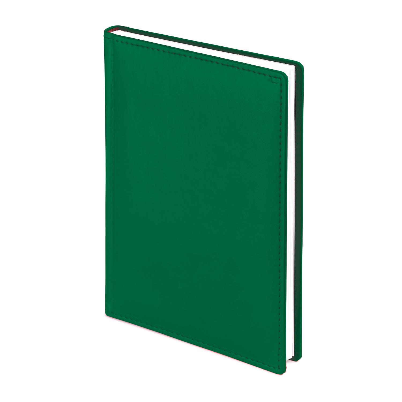 Ежедневник-недатированный-А4-VELVET-тёмно-зелёный